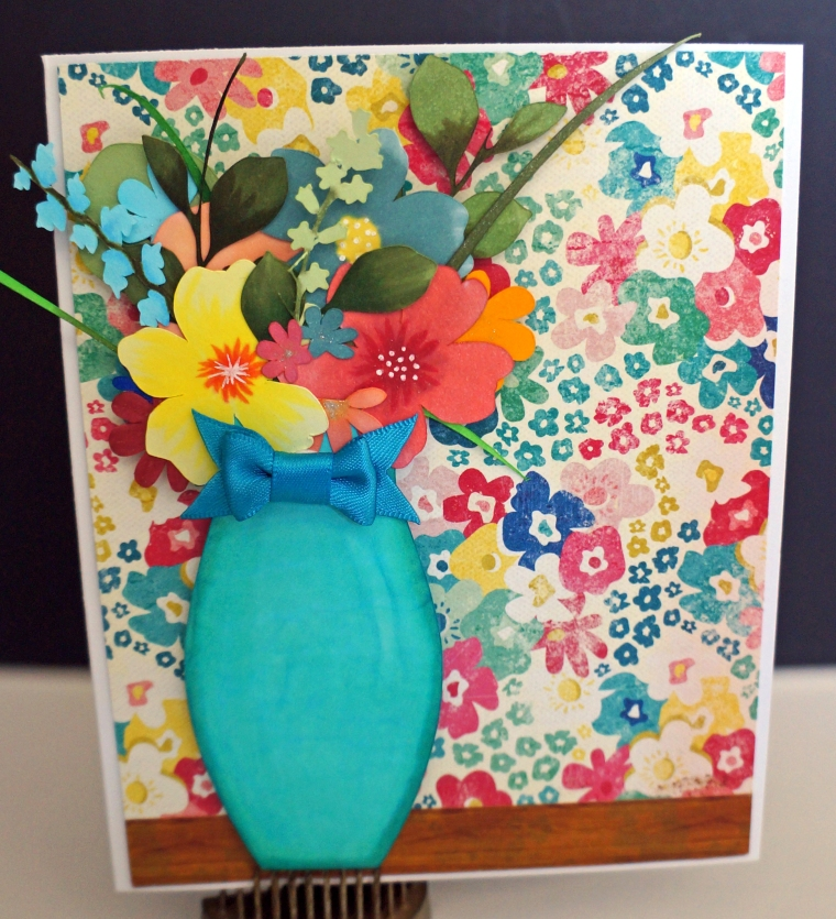 Floral arangement card-TheCraftyPickle.com