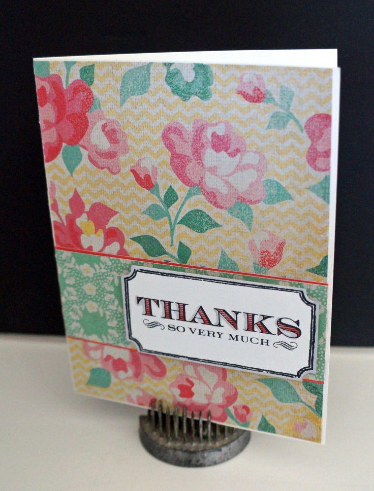 Thank you card-TheCraftyPickle.com