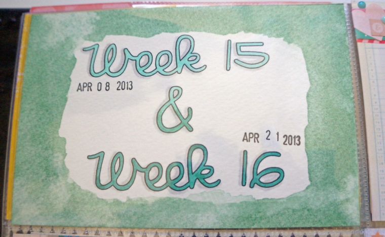 PL Title card for combo week spread. Watercolor and copics.
