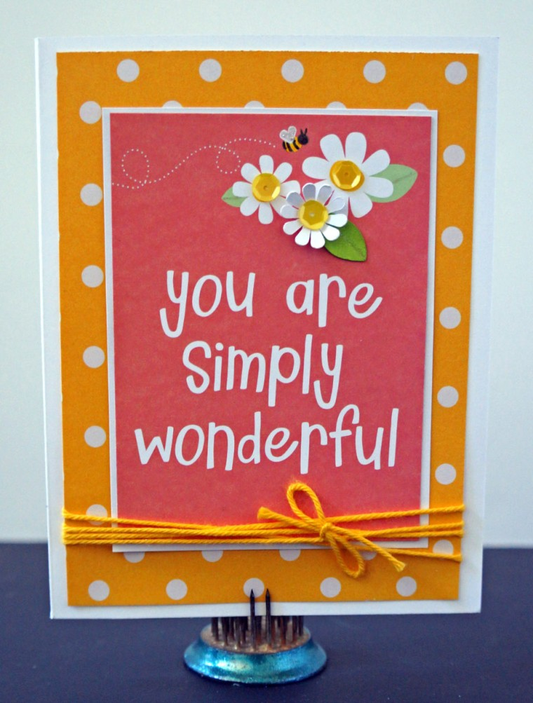Turn your leftover project life cards into greeting cards @thecraftypickle.com