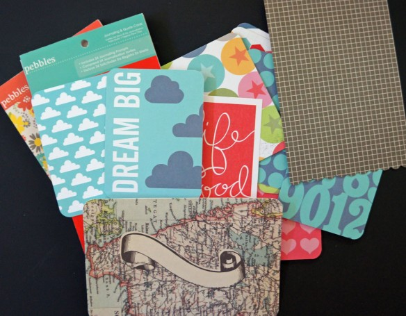 Turn your leftover project life cards into greeting cards!