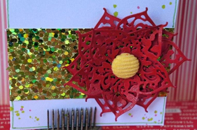 berry flower Poinsettia  @thecraftypickle.com