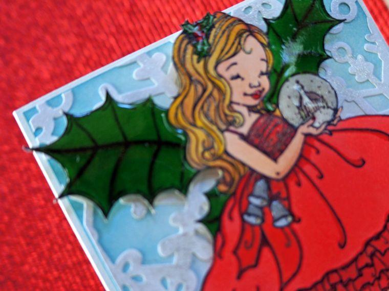 fairy christmas card @thecraftypickle.com