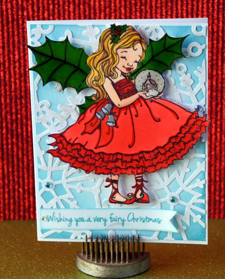 Wishing you a very fairy Christmas card @thecraftypickle.com