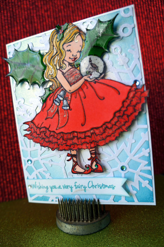 fairy christmas card @ thecraftypickle.com