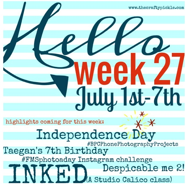New week marker for PL on my iphone @thecraftypickle.com