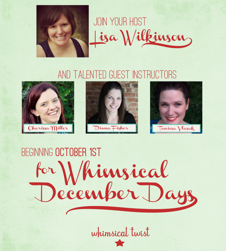 December Days class at www.whimsicaltwist.com