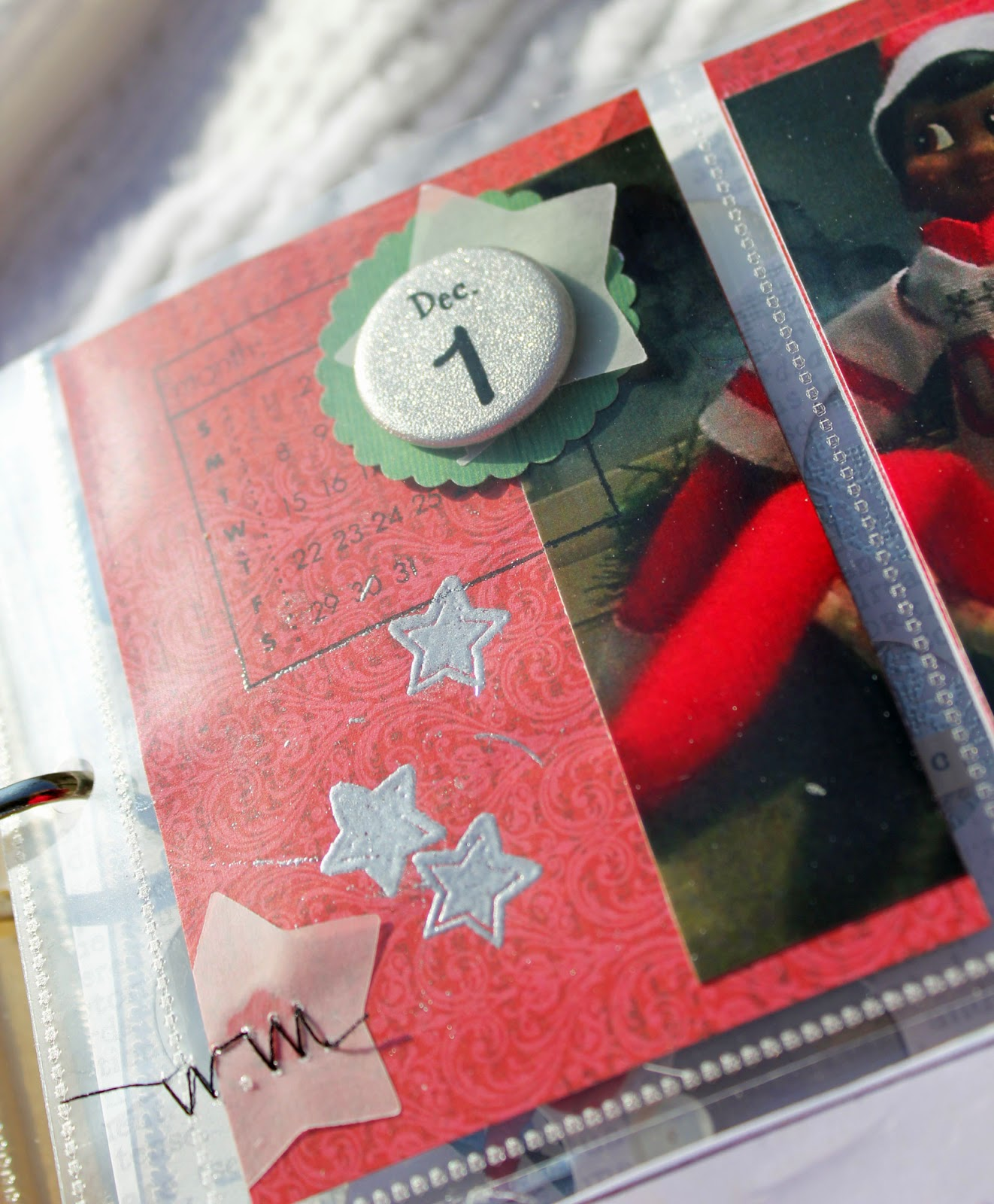 On The Third Page I Made A Little Pocket With Clear Envelope From Stamp Set And Added Christmas Holiday Sequins Deer Then Top