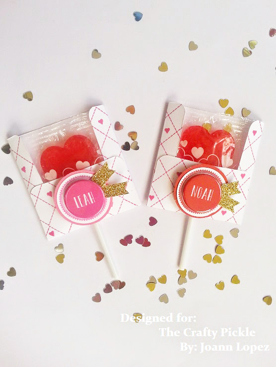 Create amazing Valentine's using custom flair from TheCraftyPickle.com