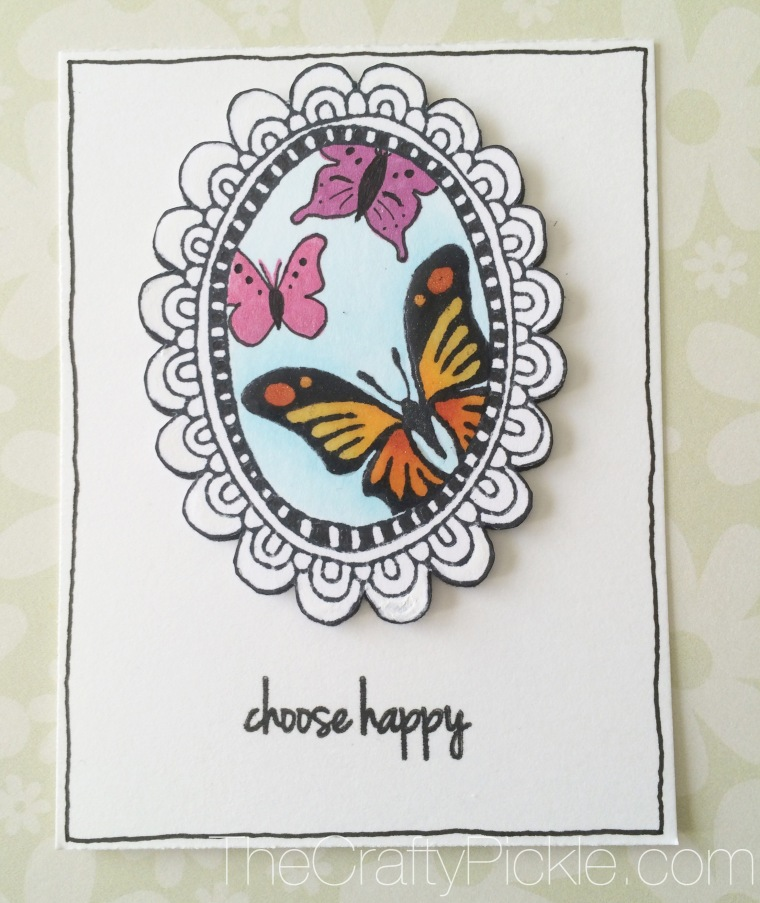 PL card using CTMH March SOTM: Choose Happy @Thecraftypickle.com