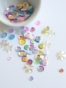 Exclusive sequin/confetti mix @ TheCraftyPickle.com