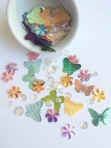Exclusive sequin/confetti mix @ TheCraftyPickle.com