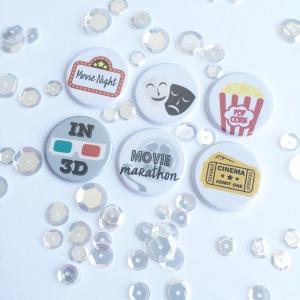 Movie Night flair set @ TheCraftyPickle.com