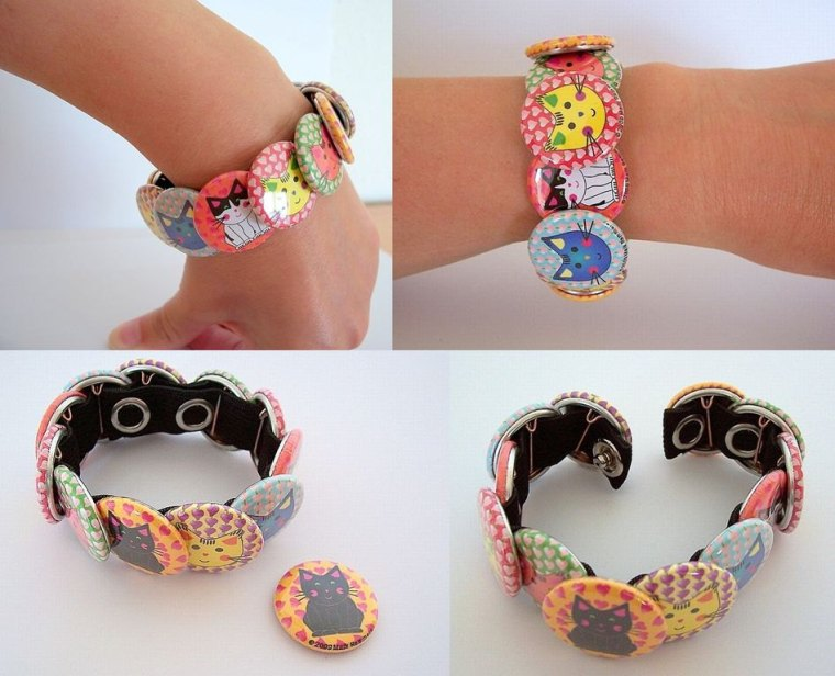 Flair button Bracelet band found on Pinterest.