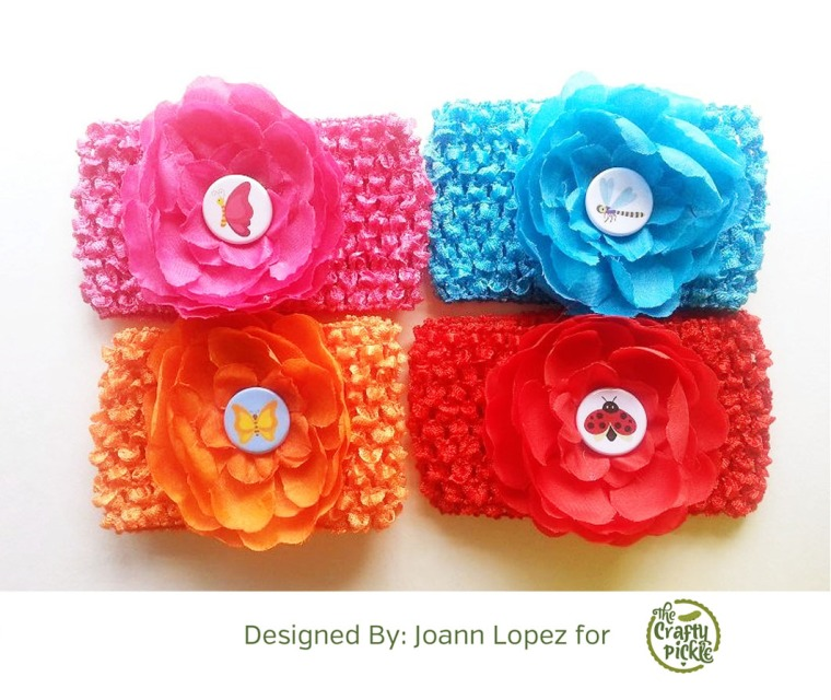Add the perfect touch to headbands @ TheCraftyPickle.com