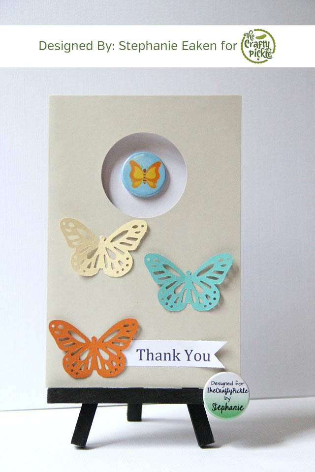 Dress up a greeting card with flair @ TheCraftyPickle.com
