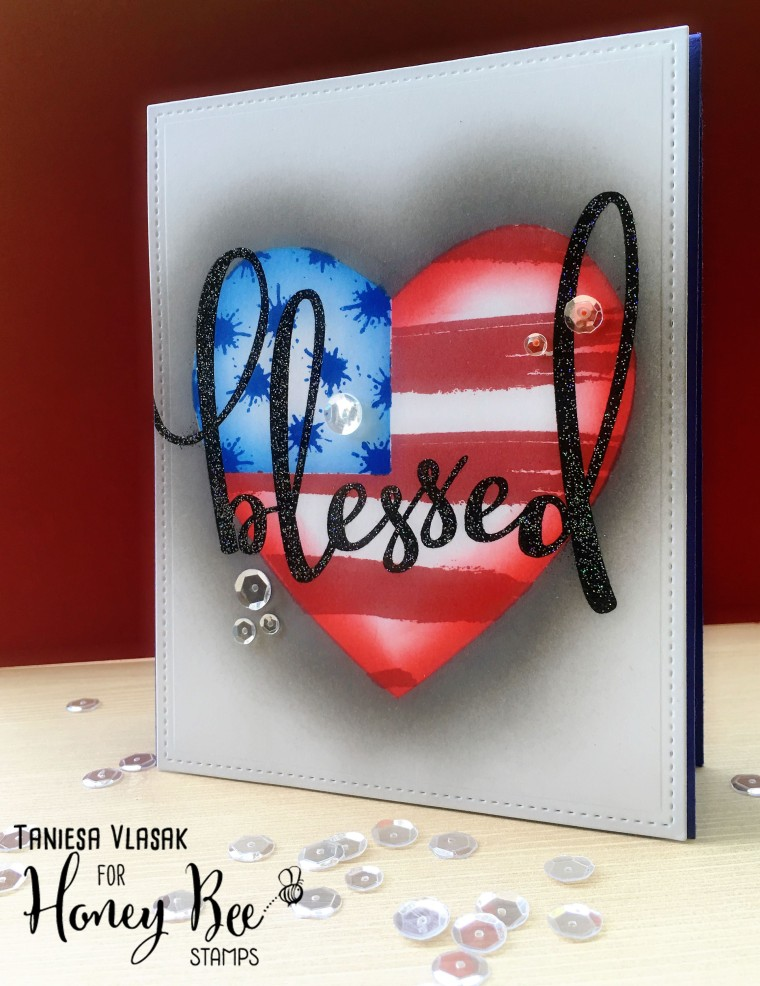 Red White and Blue Challenge week | Card by Taniesa www.thecraftypickle.com