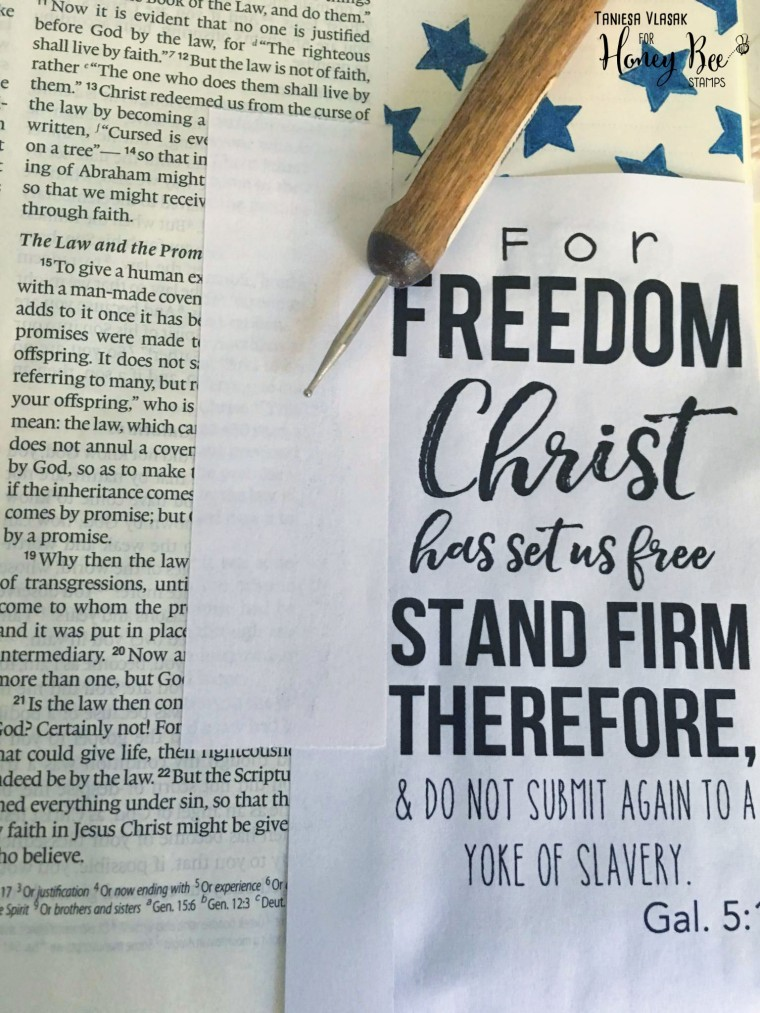 Freedom bible journaling by Taniesa Vlasak. Get your free printable too at www.thecraftypickle.com!