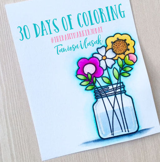 30 Days of Coloring | Taniesa Vlasak | TheCraftyPickle.com