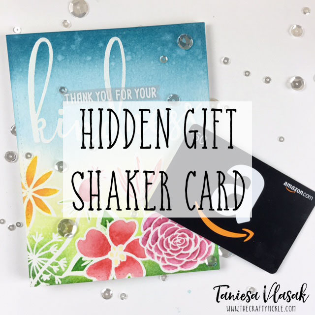 What do you get when you mix Ellen Hutson Bohemian Garden stamps, Zipper Panel die, and Honey Bee Stamps Kindness set? A very fun card that holds a shaker gift card surprise! See More at TheCraftyPickle.com