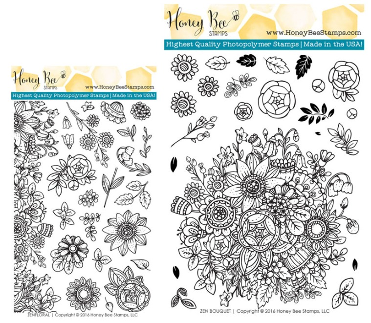 Make your own coloring book with products from Honey Bee Stamps ...