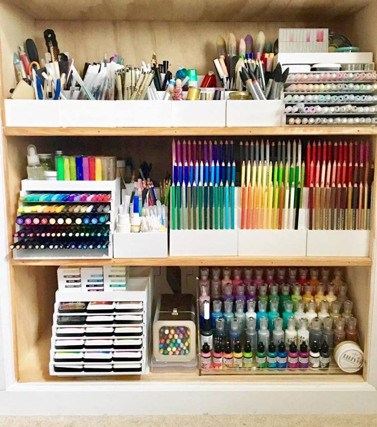 Craft Supplies Shelving Organization | TotallyTiffany.com