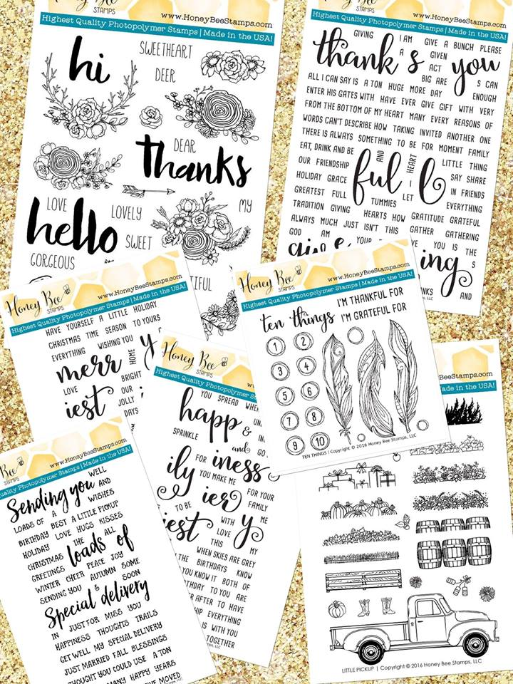 Honey Bee Stamps New Release for November!