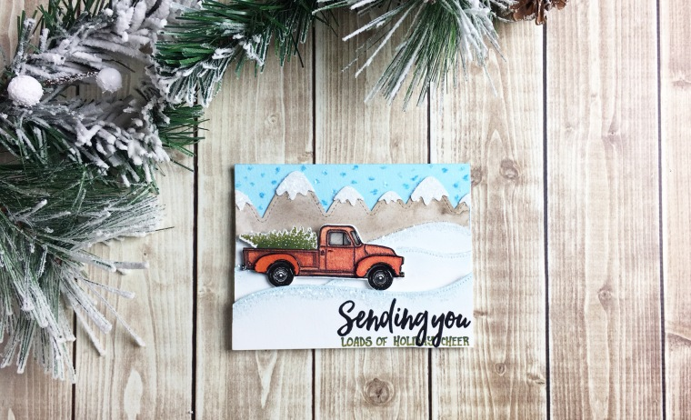 Sending you ... Little Pickup Christmas Card| Created for Honey Bee Stamps by Taniesa Vlasak