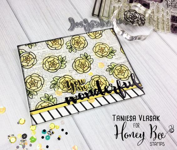 You are WONDERFUL | Taniesa Vlasak for HoneyBeeStamps.com