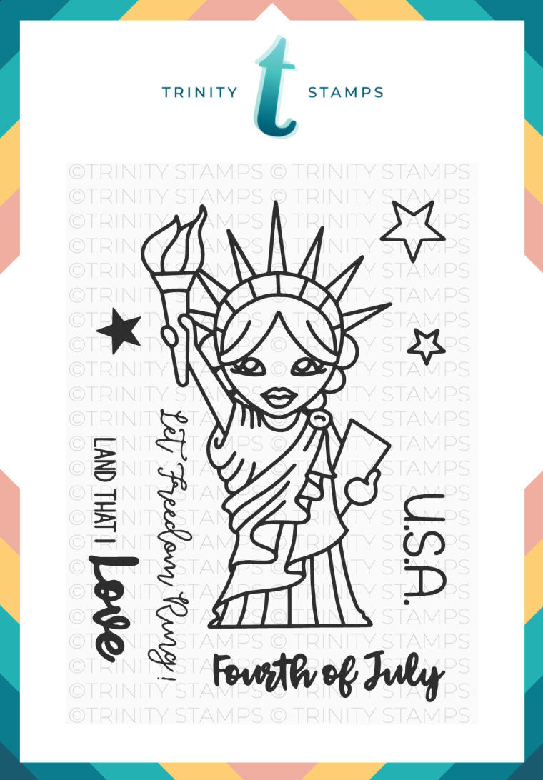 Lady Liberty: A 3x4 stamp set from www.Trinitystamps.com